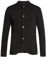 Giorgio Armani Button-up Chevron-knit Cardigan