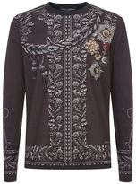 Dolce & Gabbana Long-sleeved Medals T-shirt