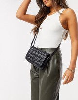 Asos Design DESIGN cross body bag in black weave