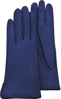 Forzieri Women's Bright Blue Calf Leather Gloves w/ Silk Lining