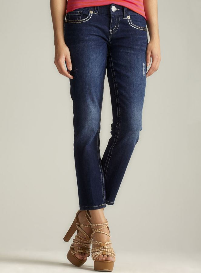 7 For All Mankind Seven7 Thick Stitch Skinny Jean