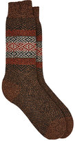 Barneys New York Men's Fair Isle Wool-Blend Socks