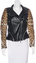 3.1 Phillip Lim Leather Printed Jacket