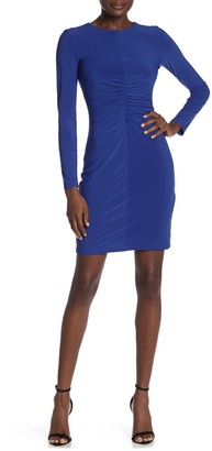 Vince Camuto Shirred Front Long Sleeve Dress (Regular & Plus Size)
