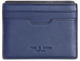 Rag & Bone Women's Calfskin Card Case - Blue