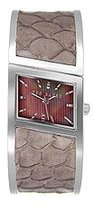 Ted Baker Women's TE4003 Twist-Ted Slant 3-Hand Analog Brown Bangle Watch