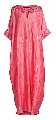 Natori Women's Luster Embellished Silk Caftan