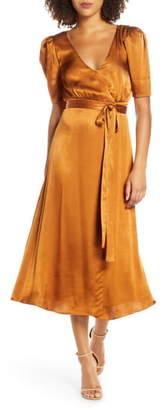 Fame & Partners Francesca Wrap Midi Dress