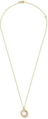 Ippolita 18kt yellow gold Lollipop crystal and diamond small pendant necklace