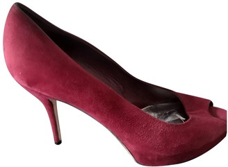 Gucci Burgundy Velvet Heels