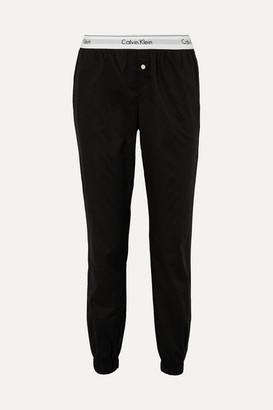Calvin Klein Underwear Modern Cotton-poplin Track Pants - Black