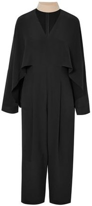 Fendi Draped Silk Crepe De Chine Jumpsuit