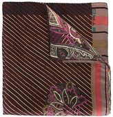 Etro striped floral pocket square