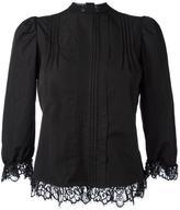 DSQUARED2 pleated bib blouse