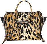 Balenciaga Mini Leopard A4 Bag in Beige | FWRD