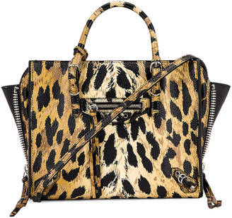 Balenciaga Mini Leopard A4 Bag in Beige | FWRD