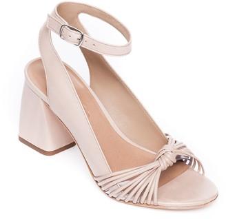 Bernardo Block Heel Leather Sandals - Nadia