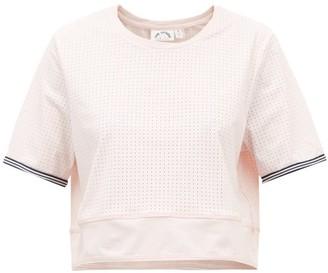 The Upside Anela Stretch-jersey Cropped T-shirt - Light Pink