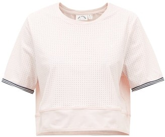 The Upside Anela Stretch-jersey Cropped T-shirt - Womens - Light Pink