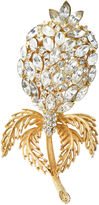 One Kings Lane Vintage Large Crystal & Gold Flower Brooch