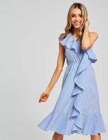Dotti Emmy One Shoulder Ruffle Dress