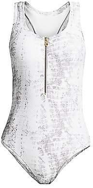 Heidi Klein Women's Core Snakeskin-Print One-Piece Swimsuit