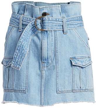Frame Paperbag Cargo Denim Mini Skirt