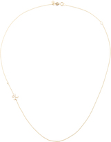 Sydney Evan Yellow Gold Side Oriented Necklace with Diamonds
