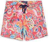 Etro Short-Length Paisley-Print Swim Shorts