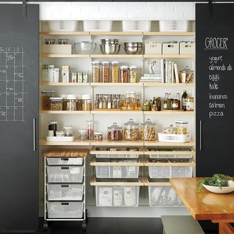 Container Store Elfa Decor 6' Birch & White Reach-In Pantry