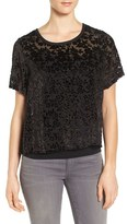 Lucky Brand Women's Floral Burnout Top