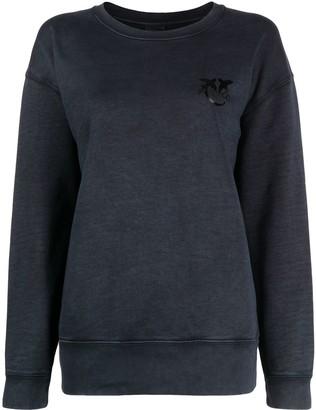 Pinko Logo Embroidered Cotton Sweatshirt