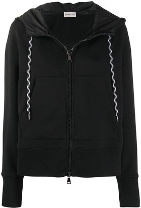 Moncler Embroidered Logo Zip Hoodie
