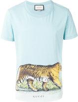 Gucci tiger print gradient T-shirt