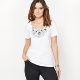 Anne Weyburn Embroidered T-Shirt in 100% Combed Cotton