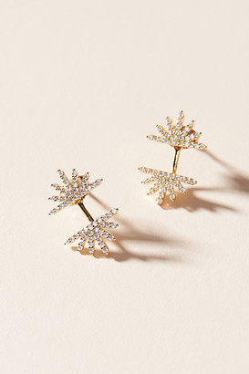 Anthropologie Starburst Front-Back Earrings By in Clear