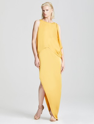 Halston Dramatic Drape Gown