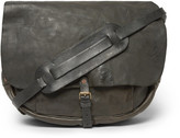 RRL - Vintage Leather Messenger Bag - Black