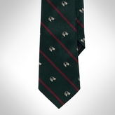 Silk Holiday Canines Tie