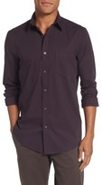 Nordstrom Men's Non-Iron Regular Fit Mini Check Sport Shirt