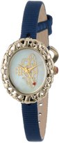 Vivienne Westwood Rococo Women's Quartz Watch with Beige Dial Analogue Display and Blue Nylon Strap VV005CMBL