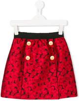 Dolce & Gabbana floral jacquard skirt