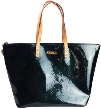 Louis Vuitton Bellevue Green Patent leather Handbags