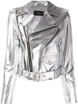 Manokhi classic metallic biker jacket