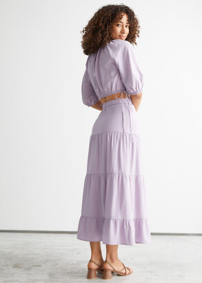 And other stories Tiered Midi Skirt