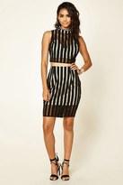 Forever 21 FOREVER 21+ Striped Knee-Length Skirt