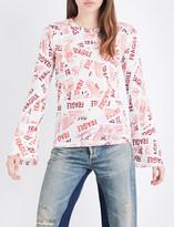Maison Margiela Fragile-print cotton-jersey top