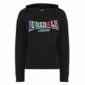 Lonsdale London . Womens RCY OTH Hoodie Signature Logo (Black 10)