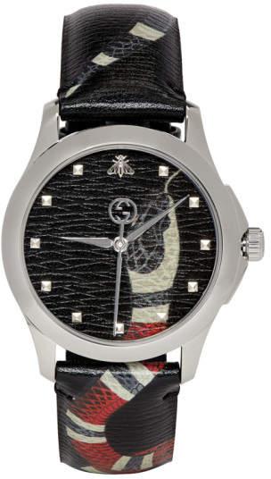 Gucci Black G-Timeless Le Marche Des Merveilles Watch