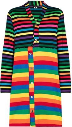 Comme des Garcons Rainbow-Stripe Long-Line Cardigan